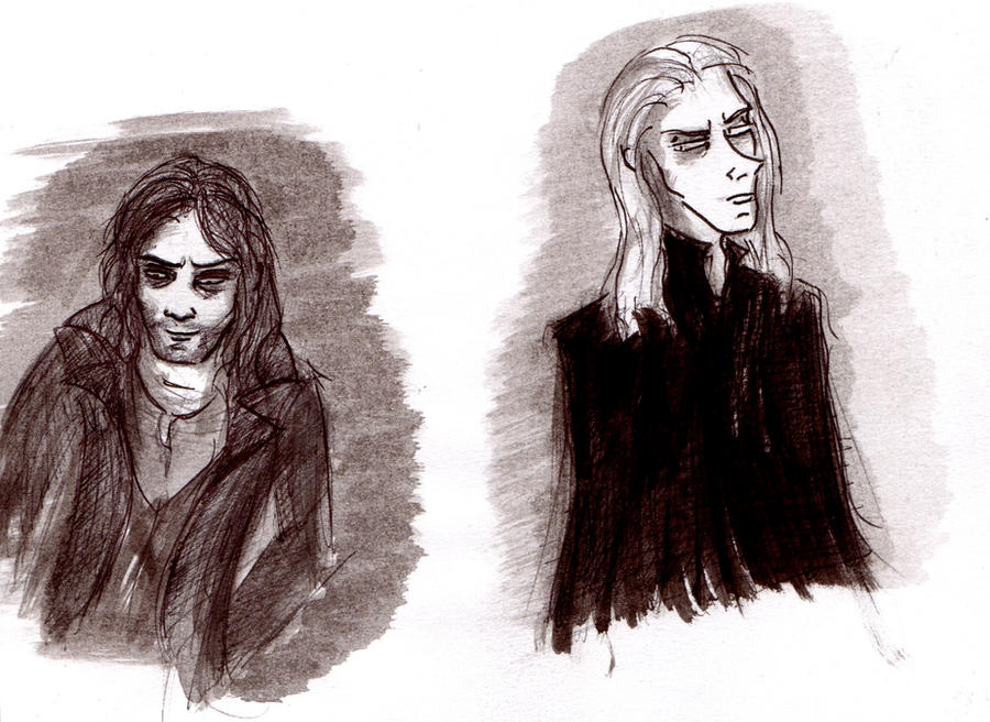 Lucius Sirius Doodles by MichellePrebich