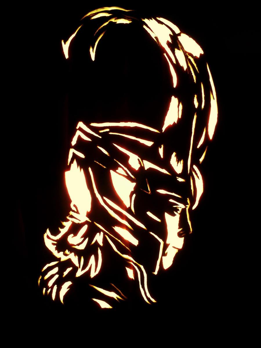 Loki pumpkin by michelleprebich on deviantart