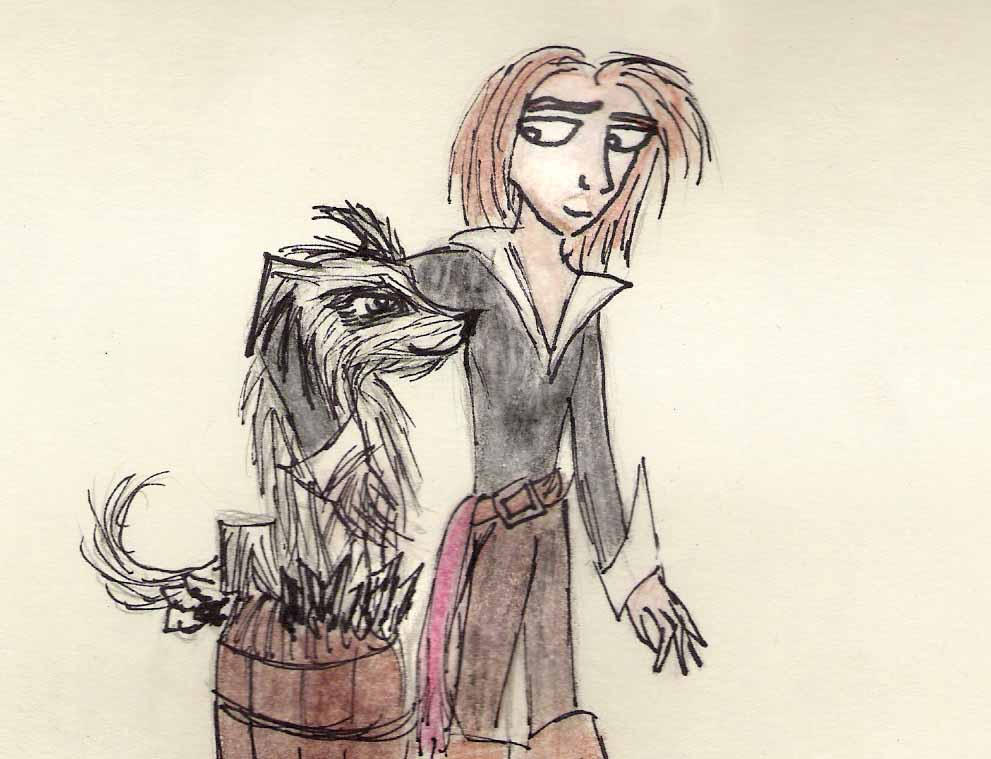 Rosencrantz and Dog by MichellePrebich