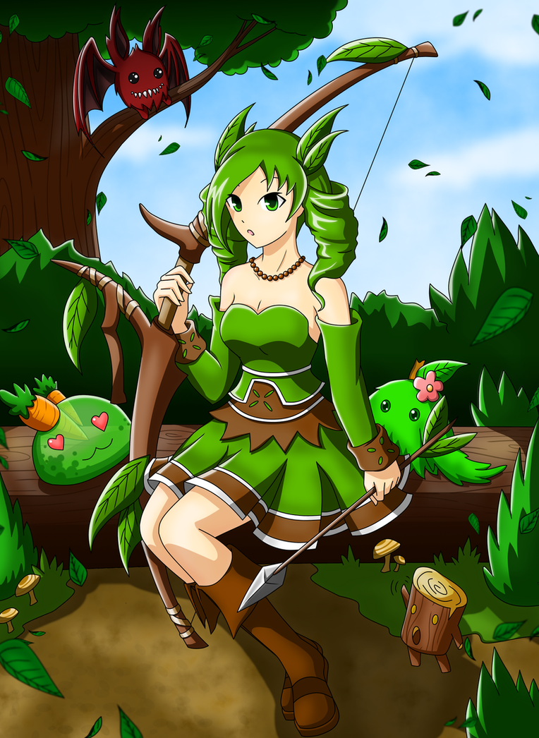 EBF Anna the nature girl by SunnyTheSunFlower