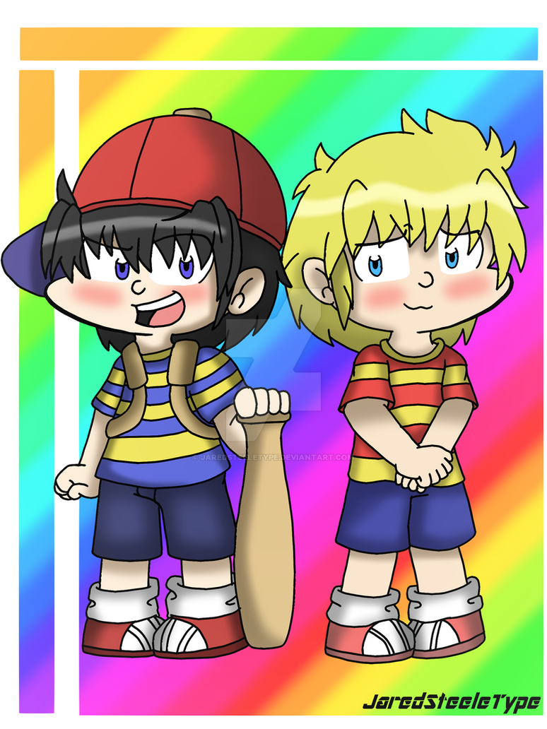 Fanart Earthbound Ness And Lucas By JaredSteeleType