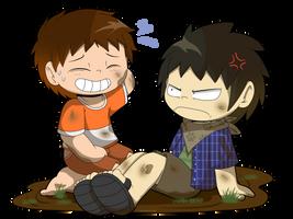 Y.L: Kyoya and Max's muddy good time! by JaredSteeleType