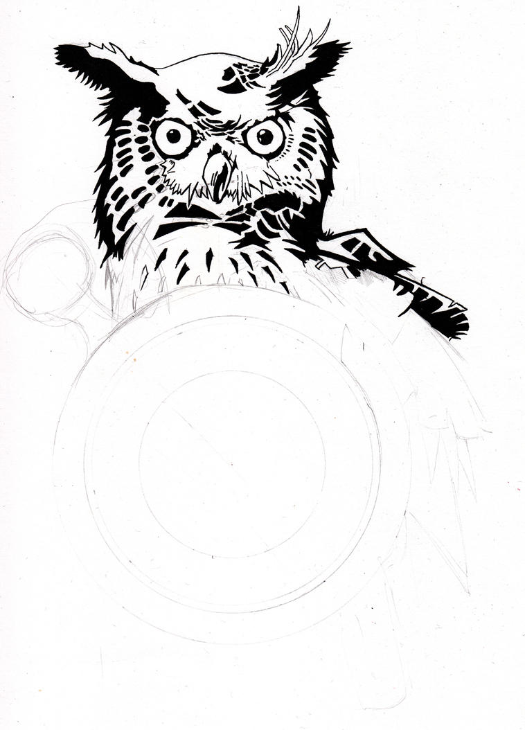 Owl-time WIP by Krashnicoff