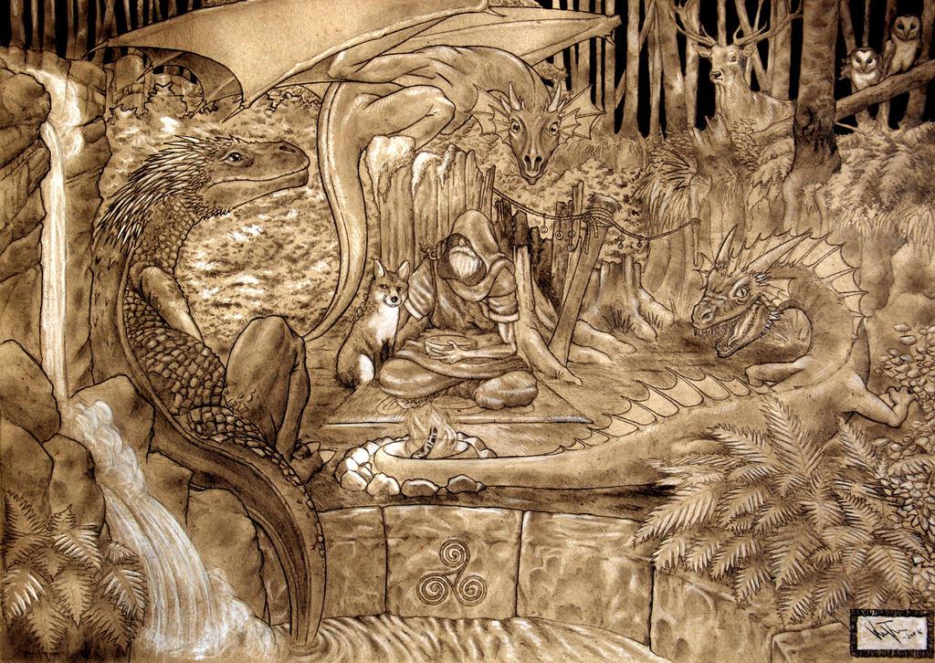 Three dragons by Krashnicoff