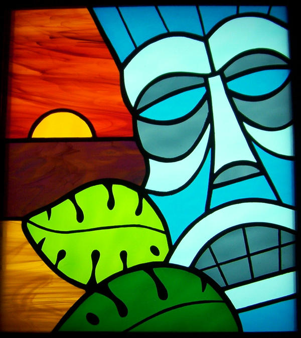 Tiki Stained Glass By Cindycrowell On Deviantart