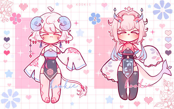[ADOPTABLES SET PRICE] [OPEN] [TWO VERSIONS]