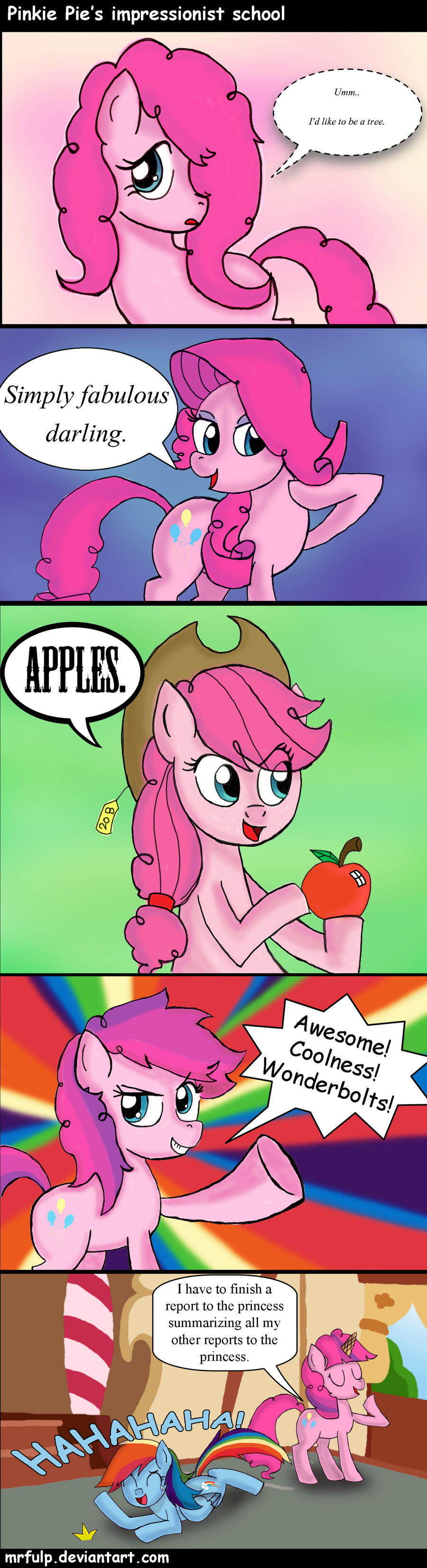 Pinkie Pie's Impressionist School by MrFulp