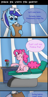 Pinkie Pie Visits The Dentist. by MrFulp