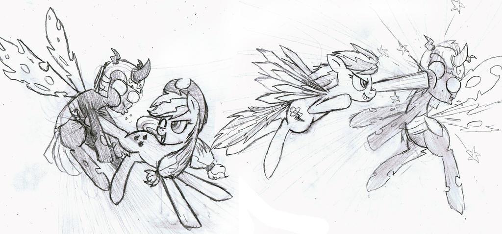 RD and AJ! Dynamic Duo! Sketch by MrFulp