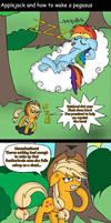 Applejack and how to wake a pegasus