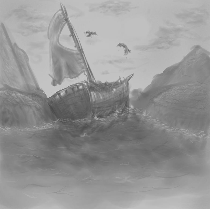 Shipwreck Sketch By Penance1 On DeviantArt