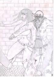 Onizuka Protects Junko Contest by SketchyOne