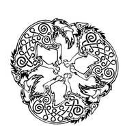 Celtic Wolf  triskele by Dawbun