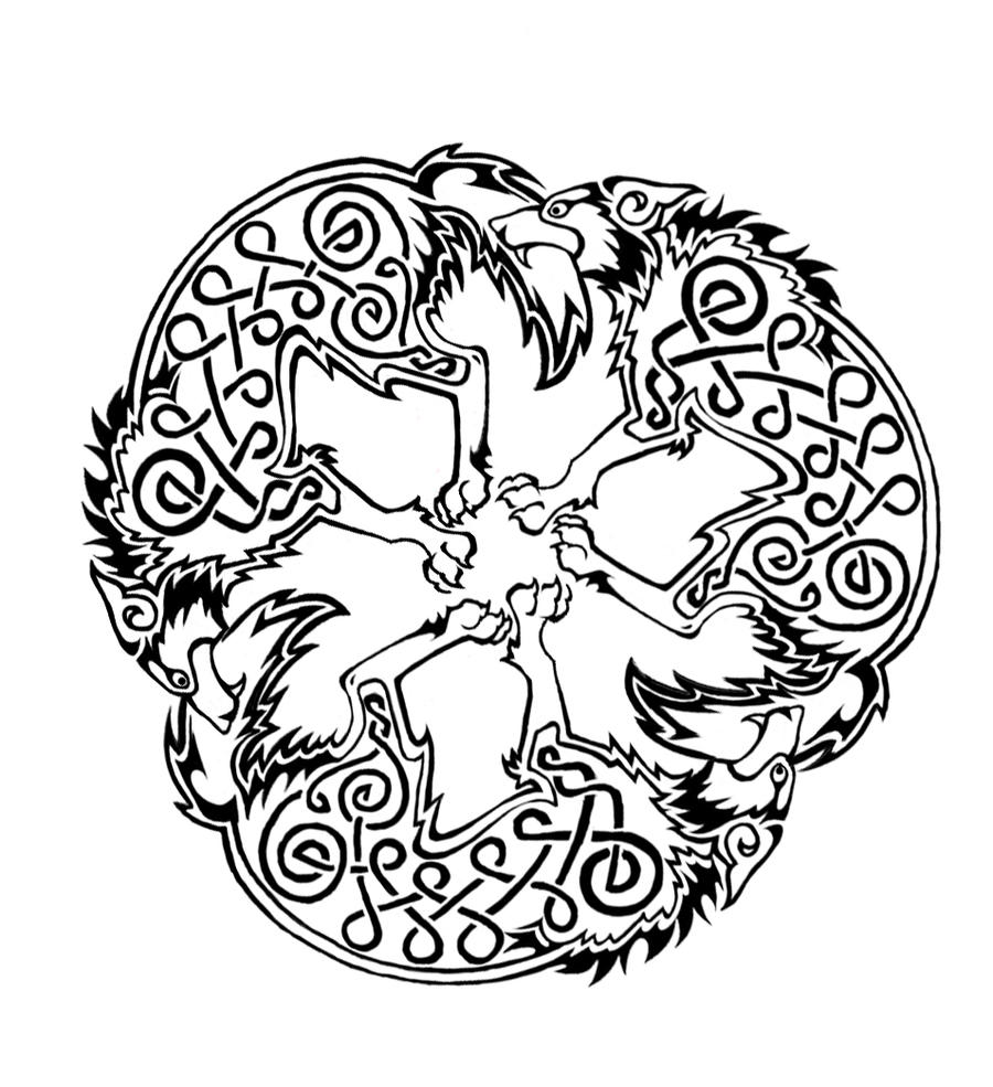 Celtic Wolf triskele by Dawbun on DeviantArt