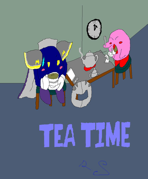 Tea with MK and Kirby by Gamerdragon07