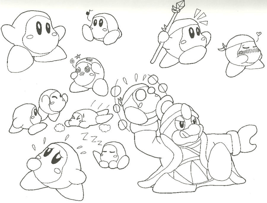 Image Result For Coloring Pages Kirby