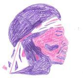 Pink Jimi Hendrix by Buhla