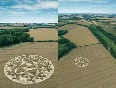 Mystery Crop Circle Wiltshire 2020.