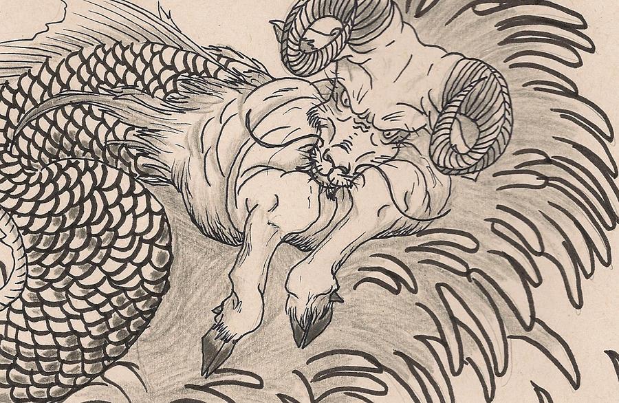 Capricorn - Sea-goat by MahbsolCapricorn Goat Art