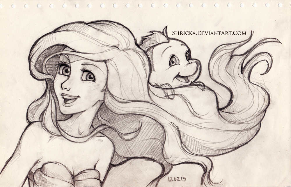 Ariel Tumblr Drawing Sketch style (ariel) 6 by