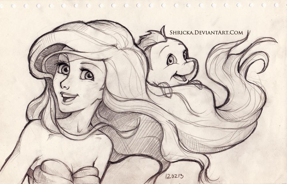 Sketch style (Ariel) 6 by Shricka