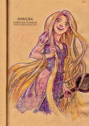 Rapunzel watercolor by Shricka