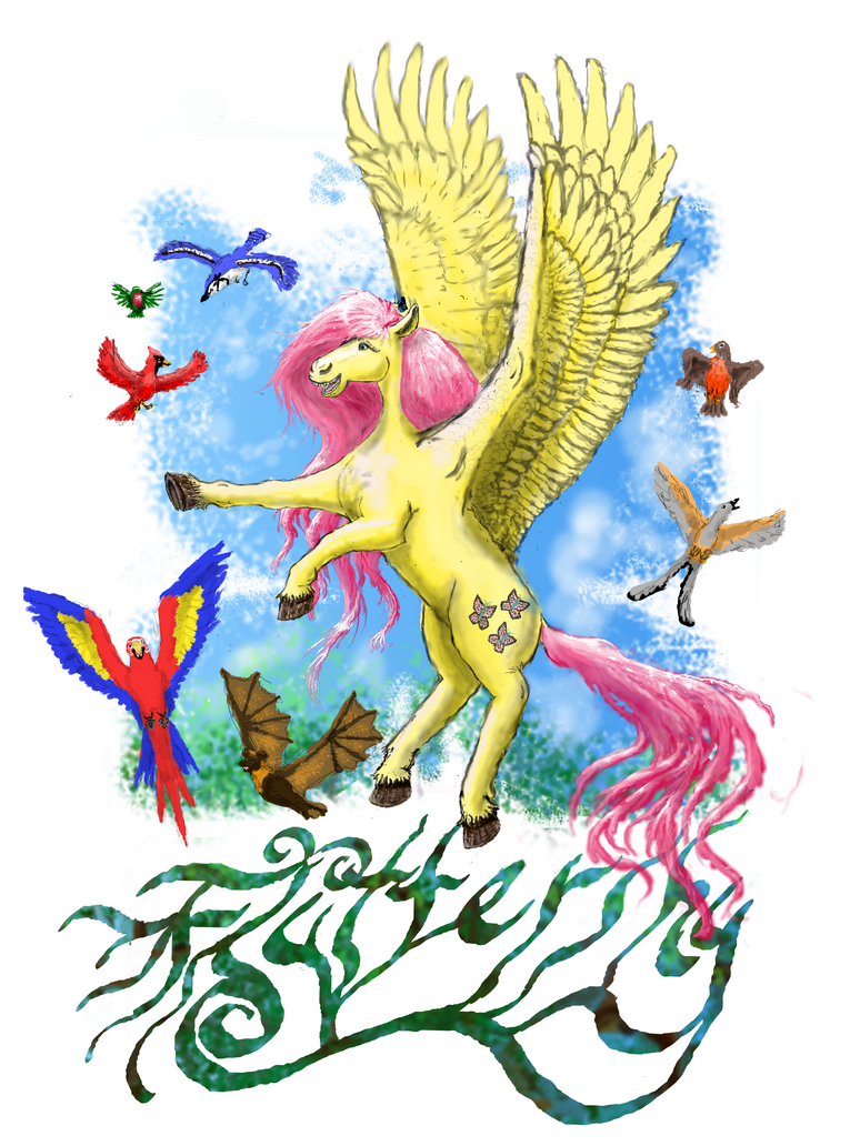 Fluttershy t-shirt design by Pwnyville