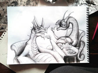 .Two fat dragons. by cute-MuMie