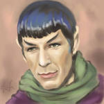 Spock and green scarf