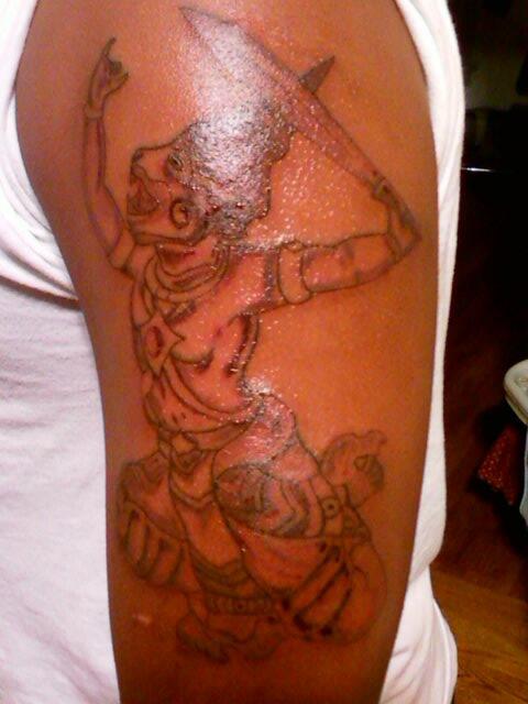khmer hanuman tattoo by bmacksumo on deviantart. Black Bedroom Furniture Sets. Home Design Ideas