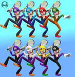 Super Smash Bros Switch? Fanmade Waluigi Palette