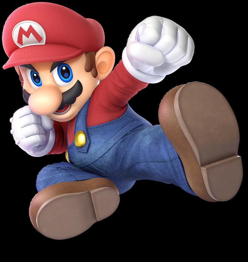 Super Smash Bros Ultimate Mario By Waluigifan32