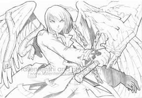 Angel of dead eyes by fallentenshi