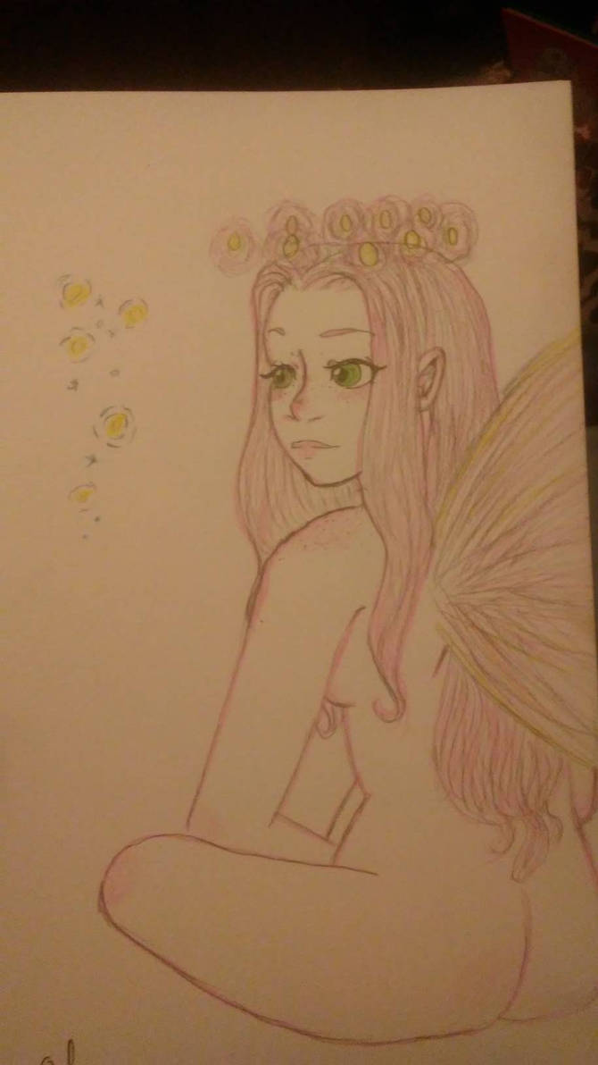 Sitting Fairy 1 by feathered-flower