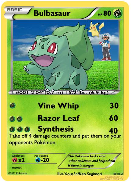 Go Back > Gallery For > Bulbasaur Pokemon Card: imgarcade.com/1/bulbasaur-pokemon-card