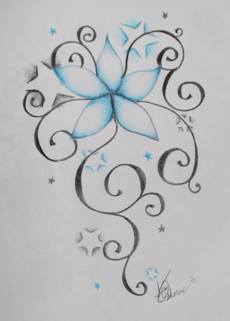Star Flower Drawing Stars And Flowers Stars And