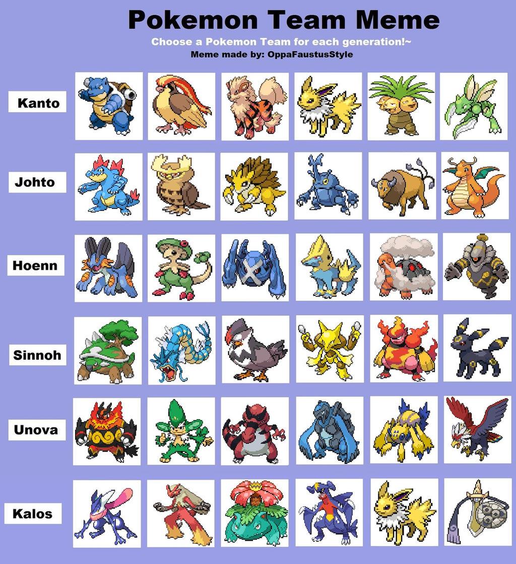 Pokemon gen 4 team builder