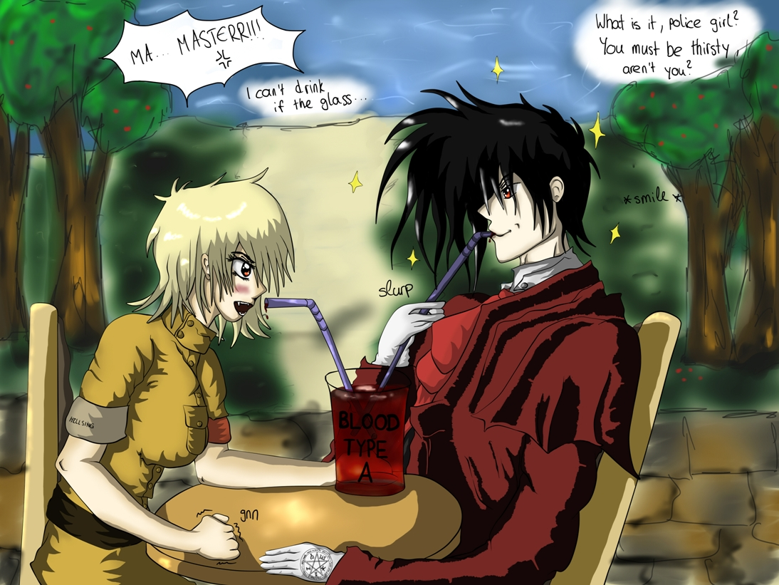 AT: Alucard and Seras- Drinking A Glass of... by Jaqie on ...