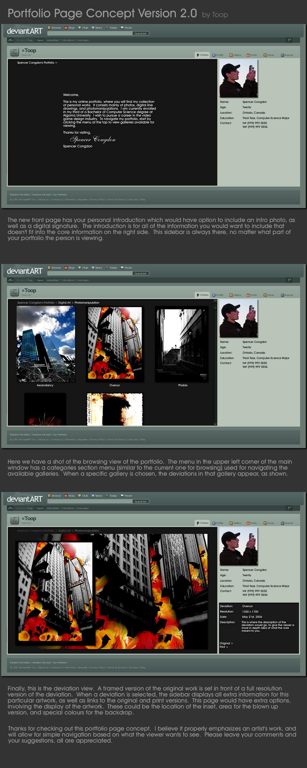 Portfolio Page Concept V.2.0 by Toop
