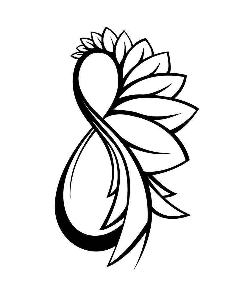 Charity's Tattoo - flower tattoo