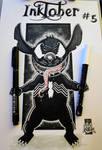 #inktober day 5: Stitch Venom by tenshiflyers