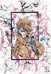 Gambit X-men Watercolor