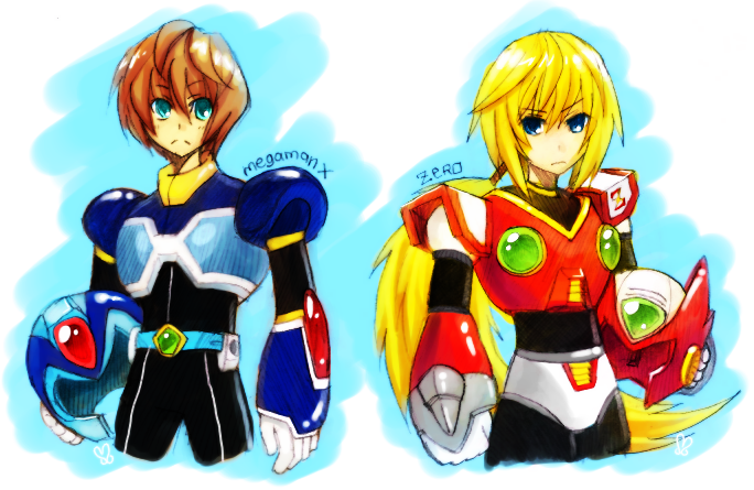 Deviantart Megaman Alia Inflation: X And Zero By Silentsasuke On DeviantArt