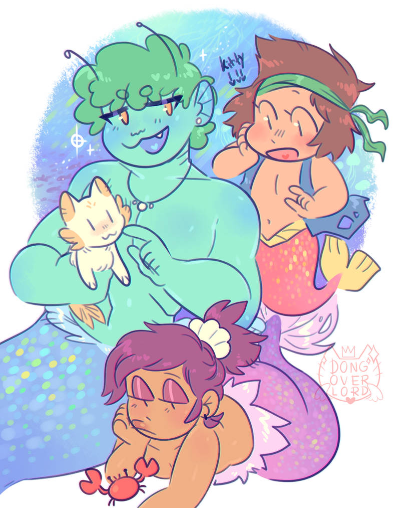 ok ko mermaid au by dongoverlord
