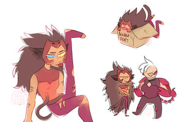 catra sketches by dongoverlord