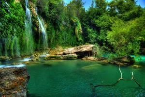 waterfalls by OVERSEERrus