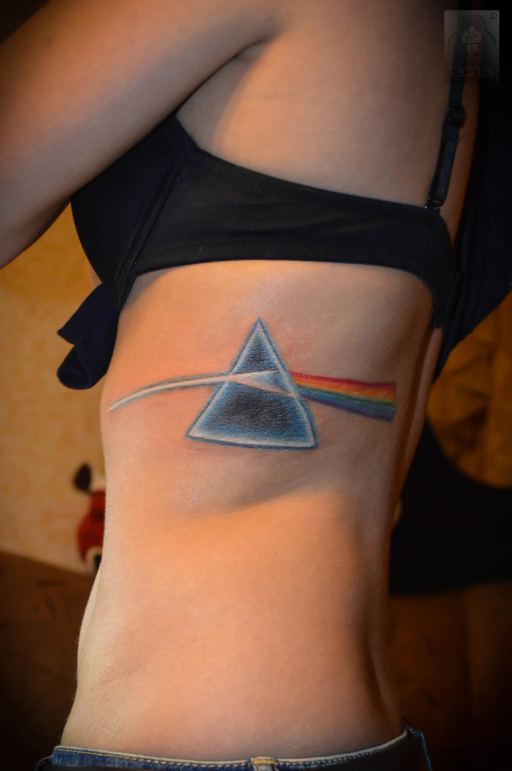 tatouage dark side of the moon the wall