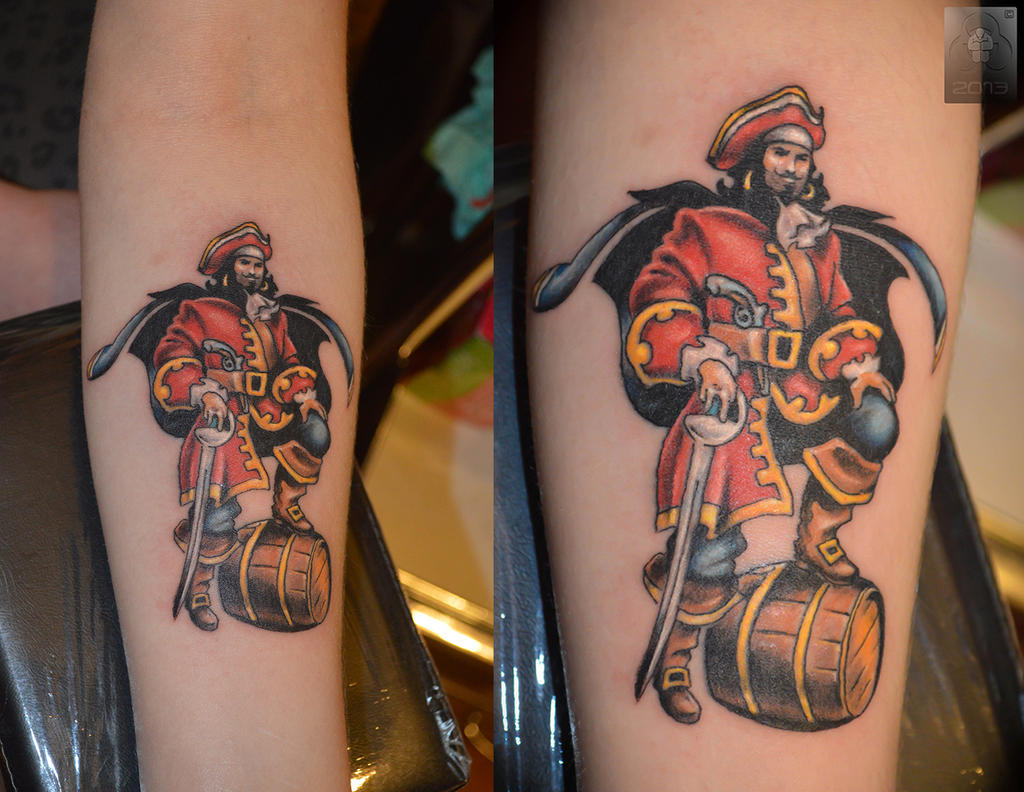 tattoo captain morgan pictures to pin on pinterest tattooskid. Black Bedroom Furniture Sets. Home Design Ideas