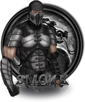 Smoke Mortal Kombat 9 by xDarkArchangel