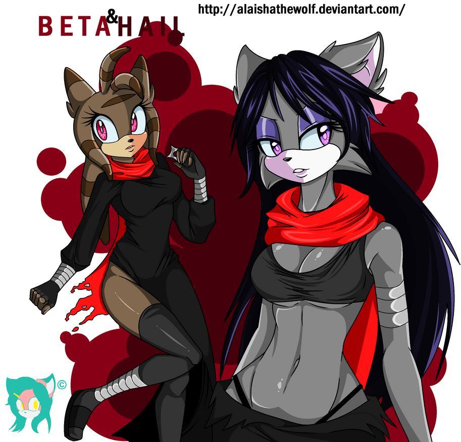 PC.:Beta and Hail:.Sexys Ninjas.:. by AlaishaTheWolf